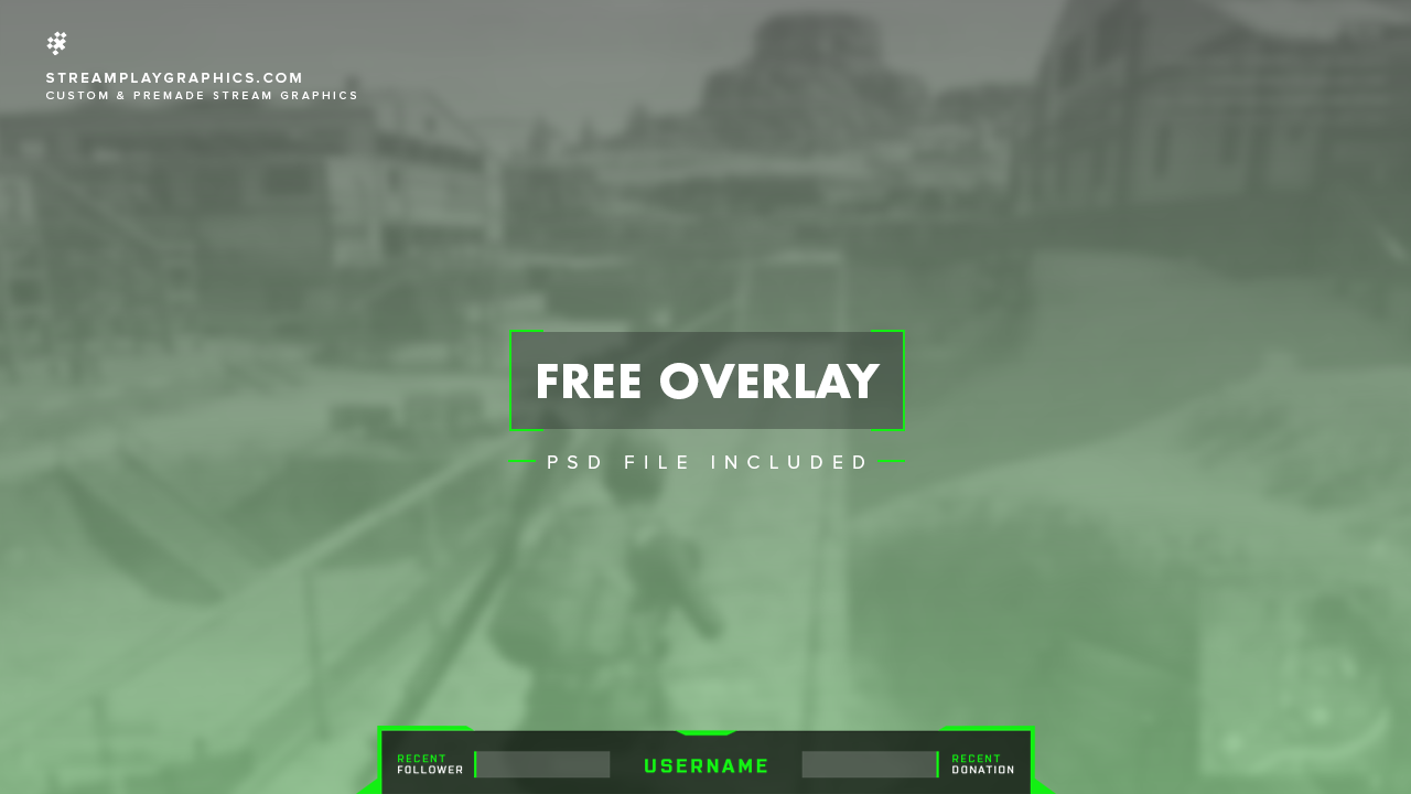 Free Green Twitch Overlay