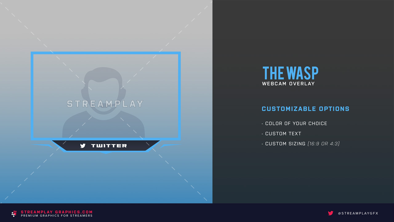 default version of the wasp webcam overlay